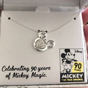 New Crystal Heart Micky Necklace. Never been used.
